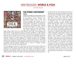 Review of 'Talk' in Rhythms Magazine