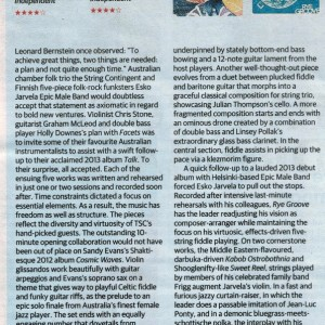 Review of 'Facets' in Weekend Australian